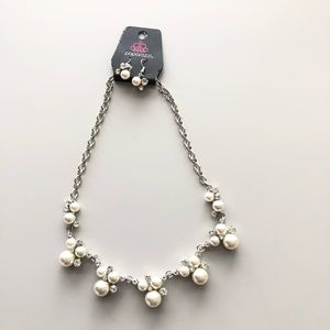 Paparazzi faux pearl necklace and earrings set